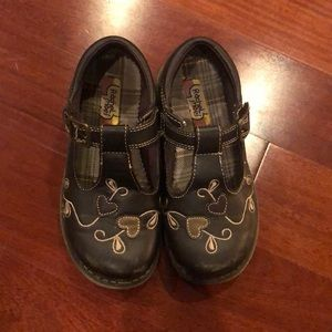 Girls brown shoes 12T sandals with buckle